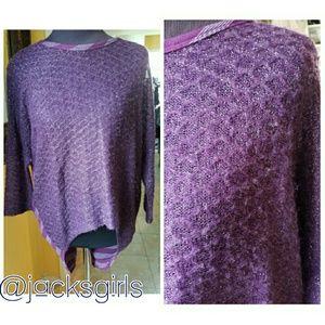 Purple hi low shirt