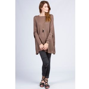 🔰New! Super Chic Mocha Slouchy Top
