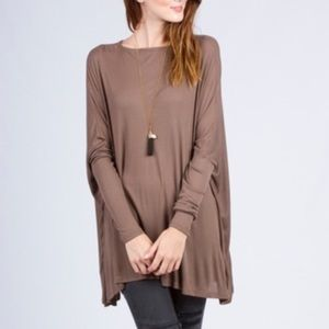 •LAST ONE• SALE! Chic Mocha Oversized Slouchy Top