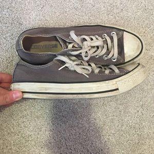 Converse Shoes - Women's low top grey converse size 8