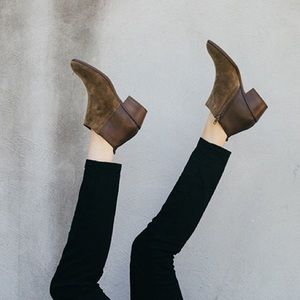 Madewell Shoes - Madewell Charley Ankle Boots Leather Suede Cigar