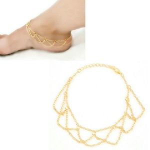 Jewelry - Just in 🔥Sexy Gold Plated Link Mesh anklet
