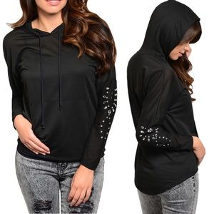 🔰New! Adorable Light Rhinestone Sleeve Pull Over