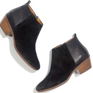 Madewell Shoes - Madewell Charley ankle boots black leather suede
