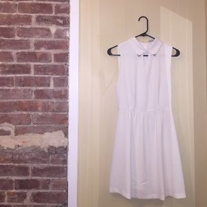 Forever 21 White Dress with Collar Size S