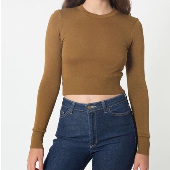 American Apparel Sweaters Lightweight Crop Sweater