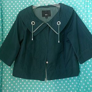 Mossimo Supply Co Jackets & Blazers - Teal Loose Fit Jacket