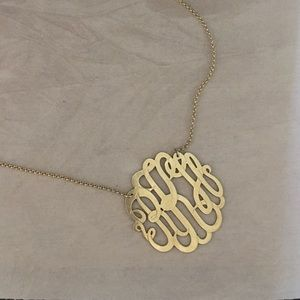 SS 925 gold-plated monogram necklace
