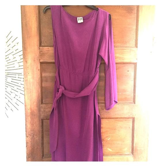 ab125ef23b Haute Hippie Dresses   Skirts - Haute Hippie purple silk asymmetrical midi  dress