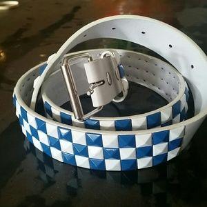 Studded Belt Blue and White Brand New