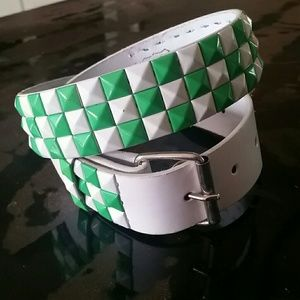Studded Belt Green and White Brand New with tags