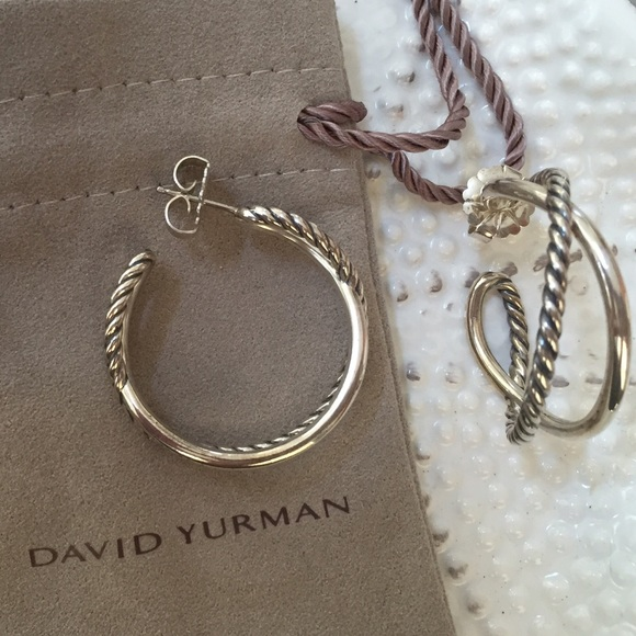 a5303bbea79d2 David yurman Jewelry - David Yurman Crossover Hoop Earrings