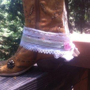 kreativekristen  Accessories - Cali Boho lace boot cuffs