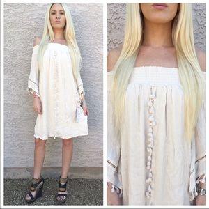 Dresses & Skirts - 🌲Buy 1 Get 1 Free🌲 Cream bohemian Dress
