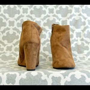 Forever 21 Shoes - Camel Pointed Pointy Toe Wedge Ankle Boot Booties