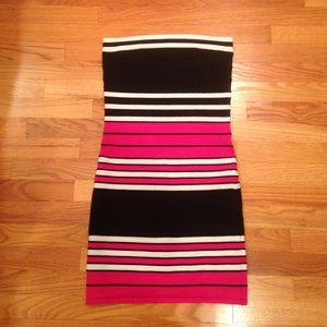Say What? Dresses & Skirts - Say What Striped Strapless Dress