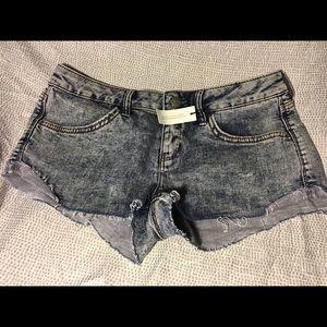Topshop Moto Hotpants Light Blue Shorts 28 6 NWT