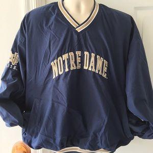 Reebok Other - Mens Reebok Notre Dame Windbreaker Pullover XL