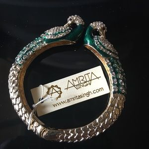 Amrita Singh Jewelry - Amrita Singh Statement bangle - green peacock