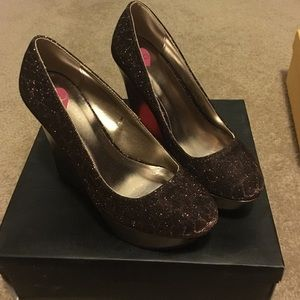 Brand new Bebe wedge shoes