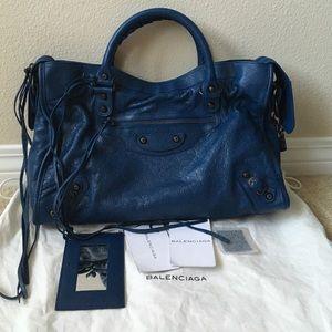 Balenciaga Handbags - 2012 BALENCIAGA CITY RH IN COBALT BLEU