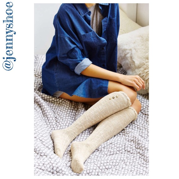 5981129c110  urban outfitters  button cuff knee-high socks. NWT