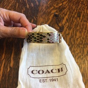 Coach Jewelry - SALE!! Coach Mosaic Gold Tone Bangle