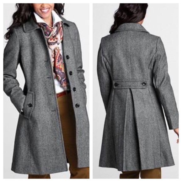 d1fbf2eab2 Lands' End Jackets & Coats | Lands End Womens Wool Swing Car Coat ...