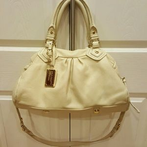Marc Jacobs Ivory Leather Satchel