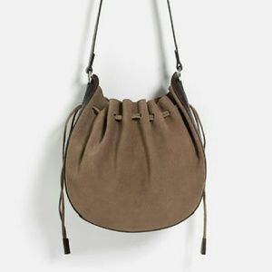 Zara leather bucket bag (4007)