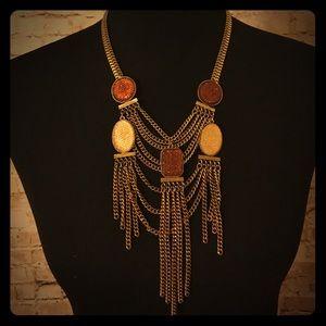 Sparkling Sage Statement Necklace