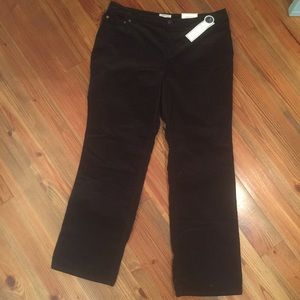 Plus Size Black Slimming Cords Pants