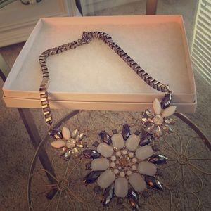 Bead & Gold Flower Statement Necklace