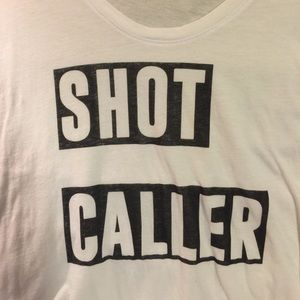 "Signorelli Tops - ""SHOT CALLER"" graphic statement tee! Simple size L"