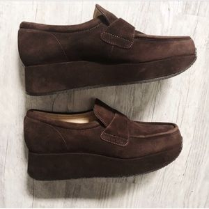 Shoes - Stephane Kelian platform suede loafers