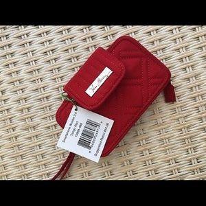 Vera Bradley cell phone wristlet (tango red)