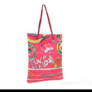 Desigual Handbags - Desigual Bols_Shopping Living Caramelo Tote Bag