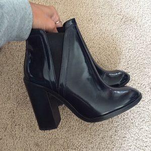 Zara Navy Booties