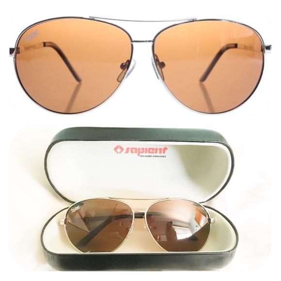 b2b74fc68a4 Sapient Aviator Sunglasses w  Polarized Lenses