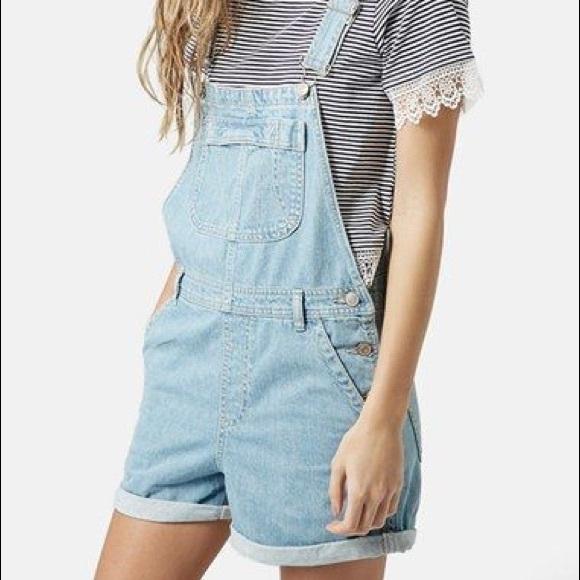 eda2f70fa4 Topshop Jeans | Denim Shorteralls Worn Once | Poshmark