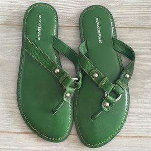 Banana Republic Green Sandals