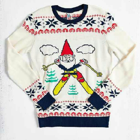 Urban Outfitters Ugly Christmas Sweater.Oh Gnome Ugly Christmas Sweater