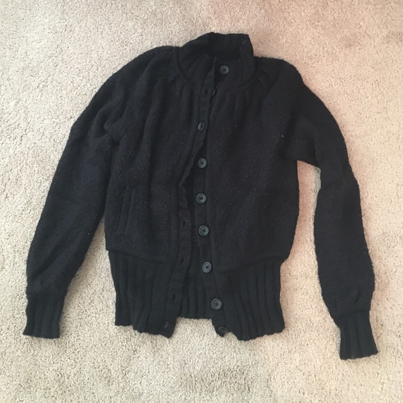 33% off Victoria's Secret Sweaters - black fluffy sweater jacket ...
