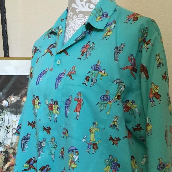 Benetton Shirts - Benetton Vintage Collectible Print Shirt  M