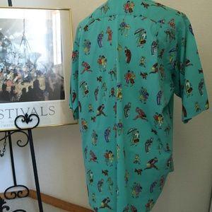 Benetton Tops - Benetton Vintage Collectible Print Shirt  M