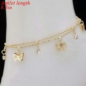 Jewelry - Butterfly Charm Gold Anklet