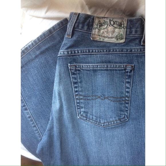58f2fd6ba7e LUCKY brand jeans bundle. Size 8. Length 29