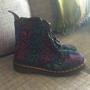 Vintage Paisley Doc Dr. Martens Boots- Size US 6