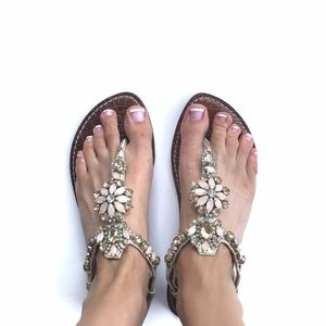 NWT Sam Edelman Embellished Leather Sandal SZ 8