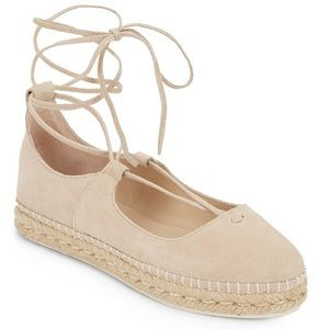Amazing Steve Madden Suede Lace Up Espadrilles